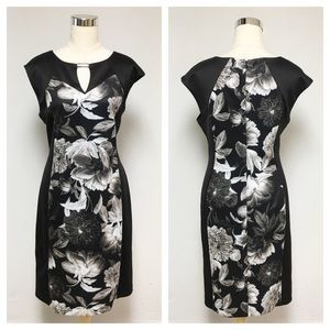 ➕ Dress Barn Floral Illusion Dress 10R